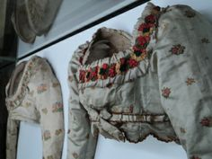 Spencer with floral patterns 1810 / Munich Silk / Linnen