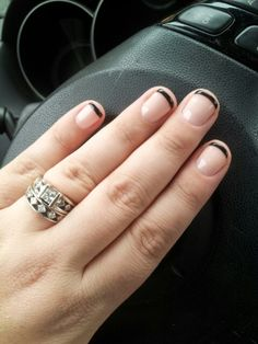 Nude with black tips!