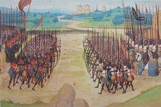 The Battle of Agincourt, 15th-century miniature
