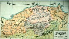 Ancient ottoman map of the west Black Sea region and Bolu