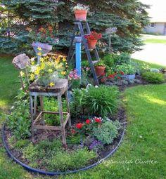 Flower beds go vertical in Carlene's front garden