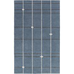 Mod Pop Hand-Tufted Gray/Blue Area Rug