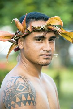 A traditional look in Apia, Samoa Island. On a short stop-over in Apia, I didnt get to see this handsome dude - maybe I need to return and spend a little more time there. Design  by http://freefacebookcovers.net