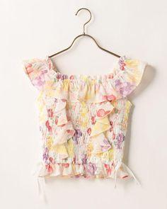 LIZ LISA Off shoulder Fruits Pattern Tops Romantic Sweet Lolita Kawaii Japan #LizLisa #Tops #Shibuya109fashion