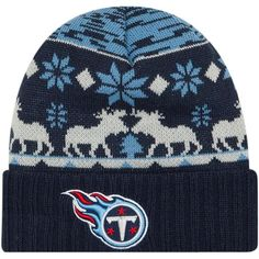 d835afbced3 Men s Tennessee Titans New Era Navy Mooser Cuffed Knit Hat