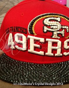 SF 49ers Hat  AS PICTURED based on by JqMCrystalDesigns on Etsy, $125.00