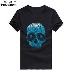 mens skull fashion 3d t shirt Hip Hop T-shirt