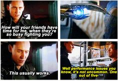 Marvel's The Avengers ...Loki & Tony Stark..performance issues