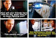 Marvel's The Avengers ...Loki & Tony Stark ..performance issues ..