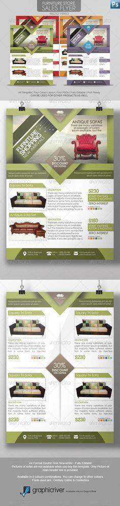 Furniture Store Sales Flyer