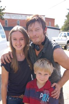 Norman Reedus with cutie pie fans