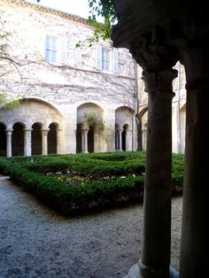 Cloister garden Monastery Saint-Paul  San Remy de Provence
