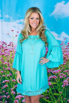 Pink Coconut Boutique | Somewhere Over The Rainbow Dress -MINT
