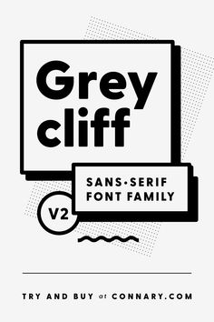 Greycliff is a smooth, geometric sans serif typeface. This modern font has retro influences from the which makes it classic and durable. Its simple look is easy on the eyes and lends itself to creative logo design. Logo Design, Type Design, Branding Design, Web Design, Typography Poster, Typography Design, Lettering, Sans Serif Fonts, Serif Typeface