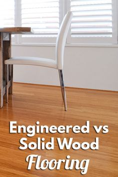 Compare engineered wood flooring with solid hardwood flooring. The main advantage of engineered wood flooring is humidity resistance & easier to install. Hardwood Floor Cleaner, Solid Wood Flooring, Engineered Wood Floors, Hardwood Floors, Wishbone Chair, Home Decor Inspiration, New Homes, Interior Design, Gemini