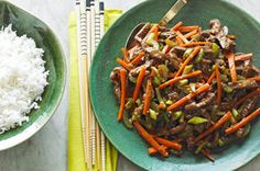 Our KRAFT Asian Sesame Dressing is the base of the simple stir-fry sauce that seasons the beef sirloin steak and vegetables in this quick stir-fry. Serve our Szechuan Shredded Beef Stir-Fry with a side of rice for a new weeknight family favourite. Kraft Foods, Kraft Recipes, Stir Fry Recipes, Beef Recipes, Cooking Recipes, Healthy Recipes, What's Cooking, Chicken Recipes, Healthy Food