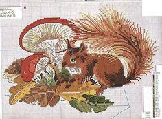 Squirrel Cross Stitch