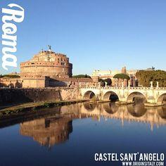 Castel Sant'Angelo. Roma, Italia. #rome #roma #castello #castle #famous #genealogy #genealogia #familyhistory #landmark #lazio #tiber #Tevere #fiume #river #architecture #bridge #art #museum #museo #ponte #santangelo #instaitalia #igersroma #igersitalia #italy #italia #blue #sky #picturesque #tourism