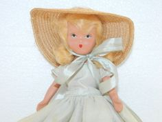 Vintage Bisque Doll Collectible Storybook style Doll Jointed Full Bisque Body