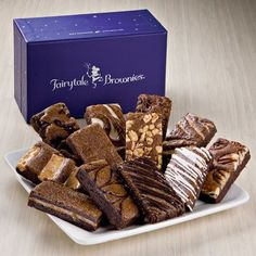 """12 delicious gourmet Brownies fill this elegant box just waiting to be enjoyed. - This product is Kosher. What's inside: 12 Brownies (3"""" x 1.5""""): 1 Caramel, 1 Chocolate Chip, 1 Coconut, 1 Mint Chocola"""