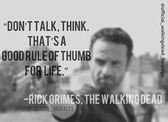 "Rick Grimes to Carl at 2x11""Judge, Jury, Executioner"" 