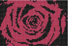 Red Rose Cross Stitch Pattern