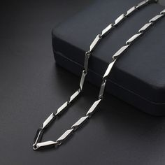 Titanium Steel Necklace Melon Chain Stainless Steel Chain for Men – KjSelections Mens Chain Necklace, Mens Silver Necklace, Gold Chains For Men, Mens Chains, Silver Chain For Men, Jewelry Model, Men's Jewelry, Gold Jewellery, Jewlery
