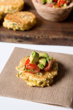 Fresh corn cakes with avocado salsa | Pamela Salzman