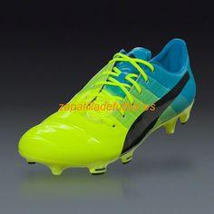 brand new 7e329 e8906 Venta al por mayor Zapatos de Soccer Puma Evopower 1.3 FG Amarillo Negro  Azul Atomica