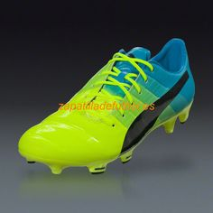 brand new 28762 774f5 Venta al por mayor Zapatos de Soccer Puma Evopower 1.3 FG Amarillo Negro  Azul Atomica