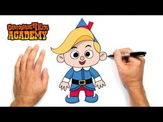How to Draw Hermey the Christmas Elf- Art for Beginners - YouTube