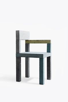 tinted concrete chair by Magnus Pettersen for the Copenhagen-based design brand New Works.