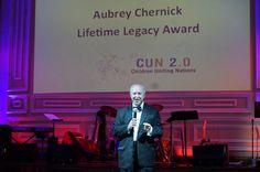 Aubrey Chernick acceptance speech at awards event.