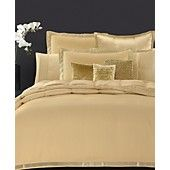 Donna Karan Bedding, Modern Classics Gold Leaf Full/Queen Duvet Cover