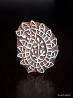 Hand Carved Indian Wood Textile Stamp Block by charancreations, $11.00