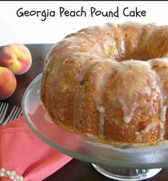 Georgia Peach Pound Cake Becca Copy Me That Pound Cake Cupcakes, Peach Pound Cakes, Pound Cake Recipes, Cupcake Cakes, Bundt Cakes, Peach Cake Recipes, Köstliche Desserts, Dessert Recipes, Quick Dessert