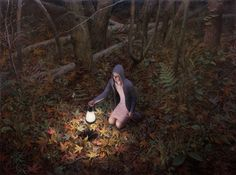 Aron Wiesenfeld (American: 1972 - ) | THE WELL | oil on canvas 65 x 87 inches 2011