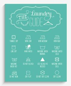 Love this Blue Laundry Guide Wall Art by Lucy Darling on #zulily! #zulilyfinds