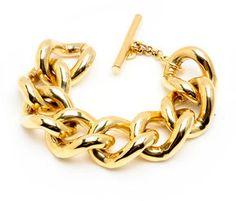 Ben-Amun Ben Amun Large Gold Chain Link Bracelet in Gold