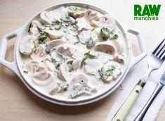 Vegan Stuffed Mushrooms, Garlic Mushrooms, Creamy Mushrooms, Mushroom Sauce, Mushroom Recipes, Vegetable Recipes, Raw Vegan Recipes, Corona
