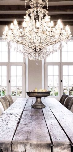Why not a chandelier for a warehouse home