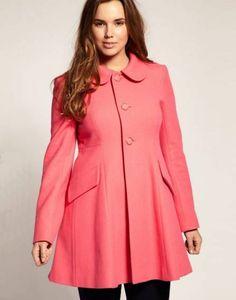 womens trendy plus size winter coats a line sequined black button up hoods 2014 16 #plus #plussize #curvy