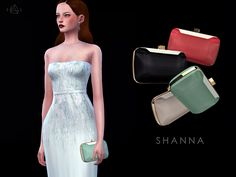 Lana CC Finds - Stone Shaped Clutch - SHANNA by Starlord