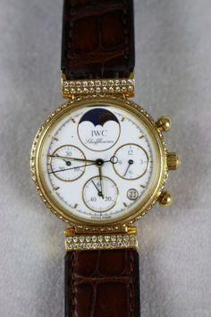"""IWC """"Da Vinci"""" Damenarmbanduhr mit Chronograph in gutem gebrauchten Zustand. Handaufzug.Lünette in — Uhren"""