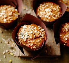 Get up and go breakfast muffins. Although will have to try swapping the honey for sugar if they're under one year old.