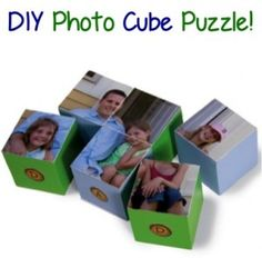 DIY Photo Cube Puzzle! #photo #crafts