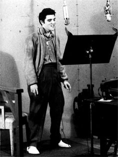 Elvis third recording session on the movie set Jailhouse rock may 7 1957