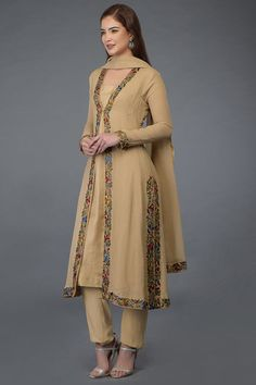Indian Suits Online, Shades Of Maroon, Churidar, Kurti, Embroidery Suits, Silk Slip, Indian Outfits, Ready To Wear, Kimono Top