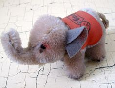 Steiff Elephant 1950's Antique Stuffed Toy by Somethingcharming, $40.00. SO CUTE. WANT THIS NOW!