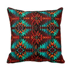 BOGO Southwest Aztec Throw Pillow Cover Red by PrimalVoguePillows, $25.00